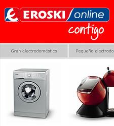 La versión Online de la firma Eroski ya vende electródomesticos y electrónica