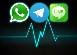 Pulso a Whatsapp por Telegram y Line